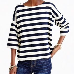 JCrew oversized stripe top S/M